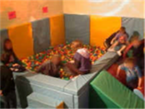 Title: Children playing in theball pool